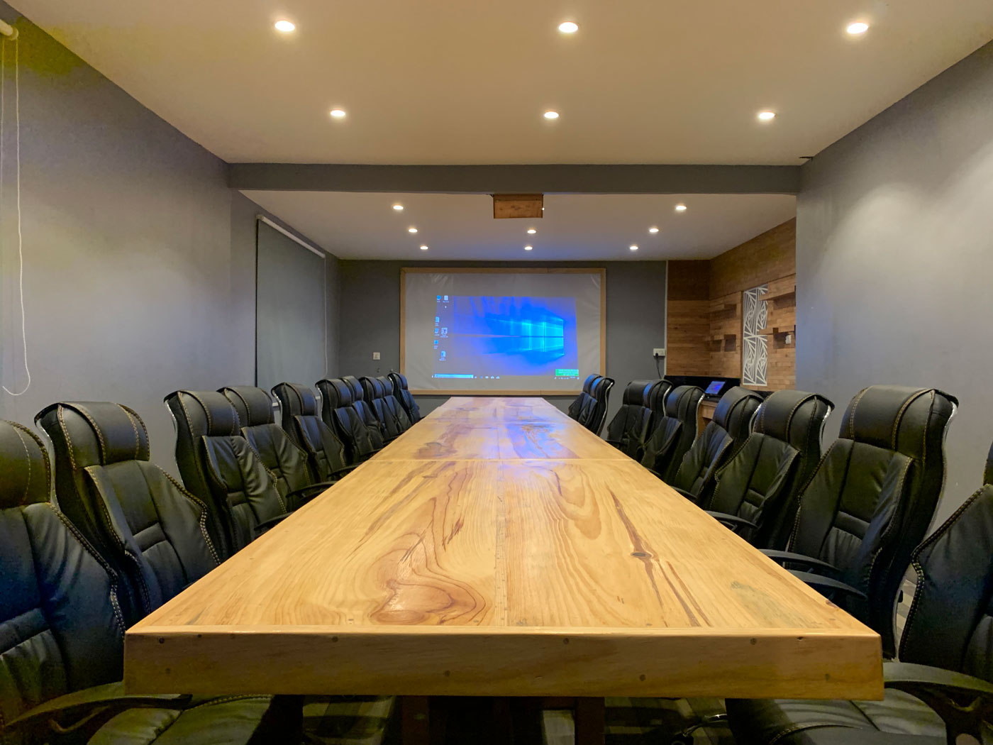 Business meeting hall in the best restaurant in Pokhara